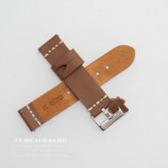Curea piele maro deschis, vintage, cusătura alba QR 22mm - 3920322