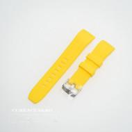 Curea silicon galbenă capat curbat 22mm - 57211