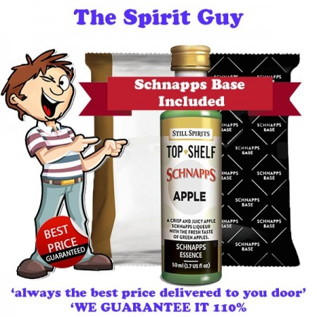 Apple Schnapps Liqueur Essence Flavouring & Base Pack