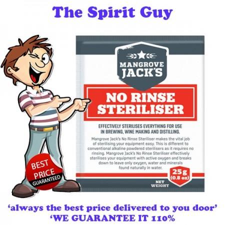 No Rinse Sanitise Steriliser 25g Packet