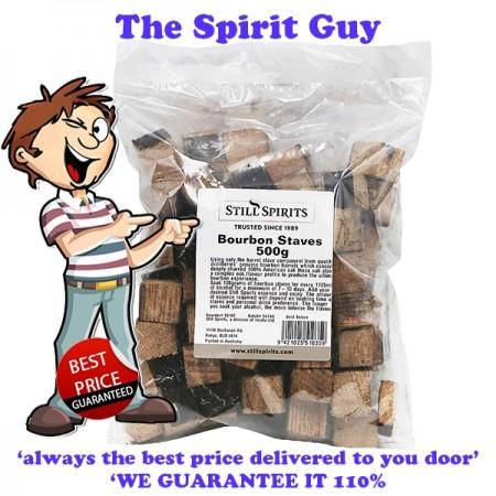 Bourbon Staves 100% American Oak Staves - Chunks 500g
