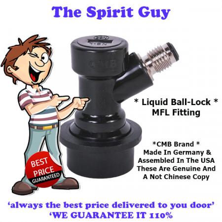 Ball Lock MFL Fitting ( CMB Brand ) Liquid Out ( Black )