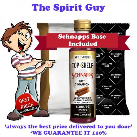 Hot Cinnamon Schnapps Liqueur Essence Flavouring & Base Pack