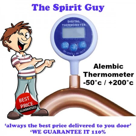 Alembic Pot Arm Digital Thermometer - Genuine Still Spirits images