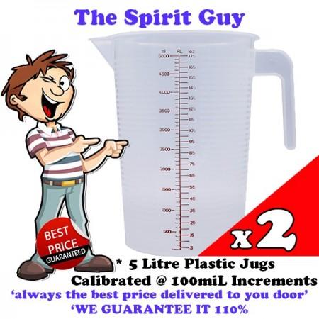 Plastic Mixing Jug 5 Litre x 2 Pack Promo @ $19.99