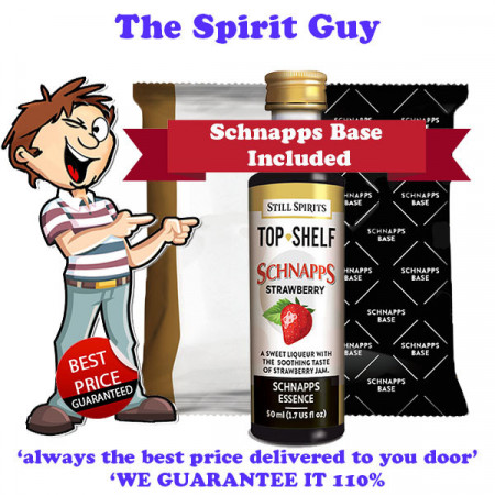 Strawberry Schnapps Liqueur Essence Flavouring & Base Pack