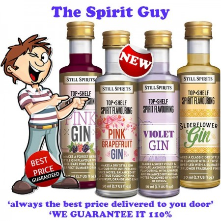 Gin Variety 4 Pack Top Shelf Spirit Flavouring Essence @ $30 ( $7.50 each )