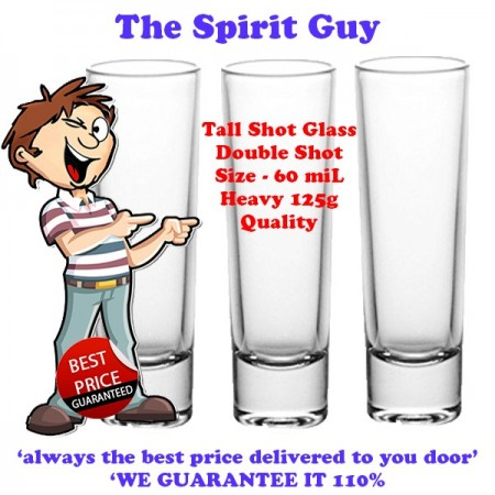 Shot Glass - Tall Double - 60 miL x 3 Pack Promo