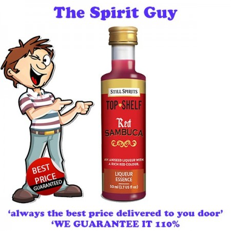 Red Sambuca Top Shelf Liqueur Essence