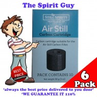 Air Still Carbon Filter Replacement Cartridges x 6 Pack @ $6.00 ea