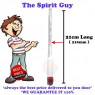 Alcometer 0-100% @ 20°c & Rigid Trial Jar