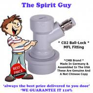 Ball Lock MFL Fitting ( CMB Brand ) Co2 Out ( Grey )