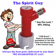 Pin Lock MFL Fitting ( CMB Brand ) Co2 Out ( Red - Grey )