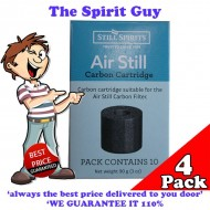 Air Still Carbon Filter Replacement Cartridges x 4 Pack @ $6.00 ea