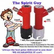 Keg Pin Lock Co2 & Liquid Dispense Kit