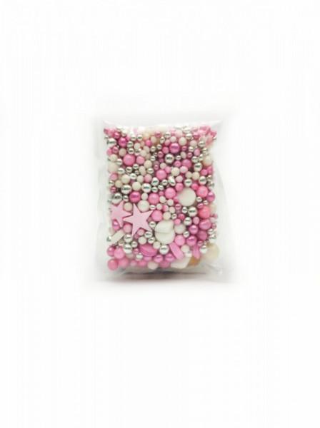 Ukrasne jestive perle ROZE-BELI MIX 50g