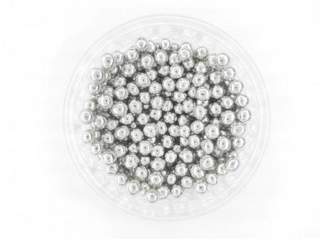 Dekorativne perle SREBRNE 5mm 50g