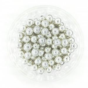 Dekorativne perle SREBRNE 7mm 50g
