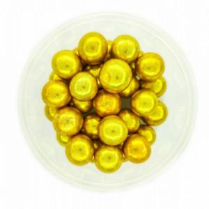 Dekorativne perle ZLATNE 15mm 50g