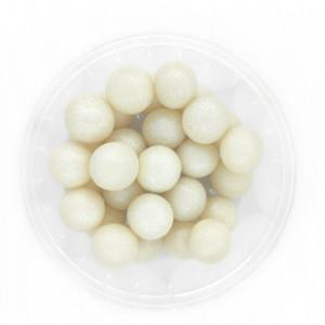 Dekorativne perle BELE 12mm 50g