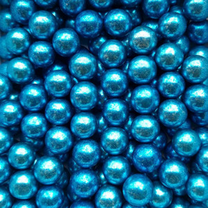 Dekorativne perle METALIK PLAVE 15mm 50g
