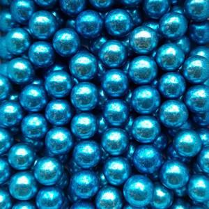 Dekorativne perle METALIK PLAVE 15mm