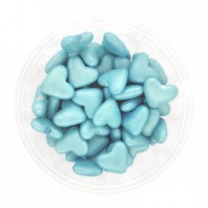 Dekorativne perlice srca - PLAVA 50g