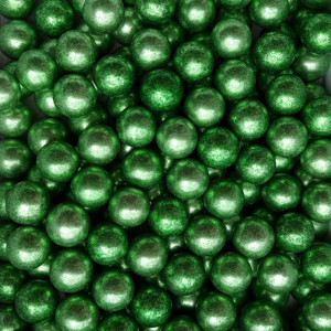 Dekorativne perle METALIK ZELENE 15mm 50g