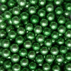Dekorativne perle METALIK ZELENE 15mm