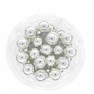 Dekorativne perle SREBRNE 12mm 50g