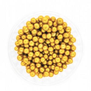 Dekorativne perle ZLATNE 5mm 50g