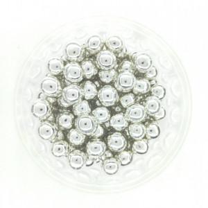 Dekorativne perle SREBRNE 9mm 50g