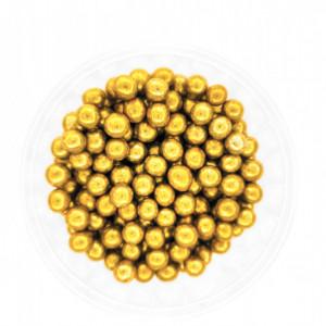 Dekorativne perle ZLATNE 7mm 50g