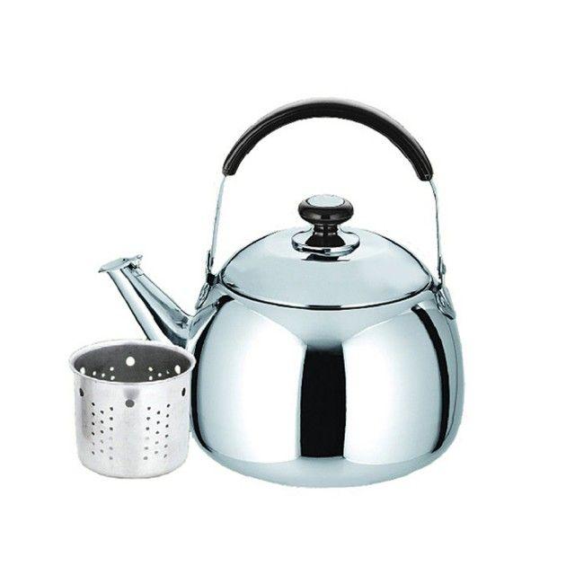 Ceainic Din Inox Cu Sita Kinghoff  Capacitate 2 Litri  Inductie