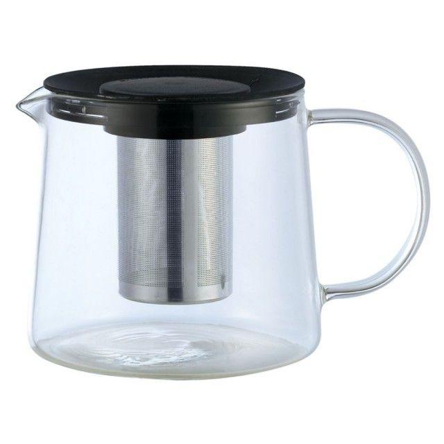 Ceainic Din Sticla Cu Sita Din Inox Kinghoff  Capacitate 1000 Ml