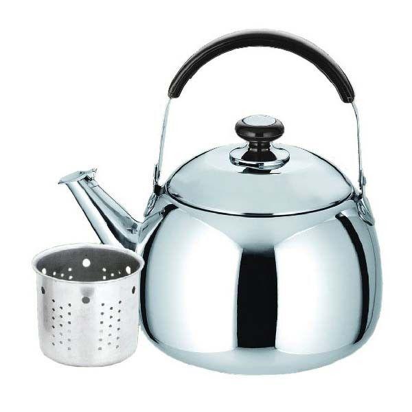 Ceainic Din Inox Cu Sita Kinghoff  Capacitate 0 8 Litri  Inductie