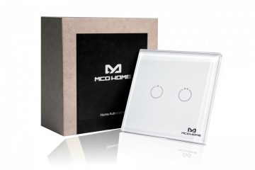 Poze MCO Home Glass Touch Switch (2 Buttons), British Standard MH-S312