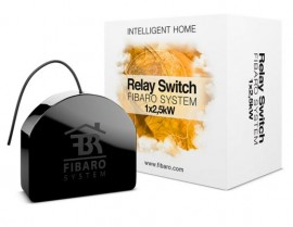 Intrerupator (Releu) Simplu Fibaro | Single Switch | 1X2,5 KW Fibaro FGS-212