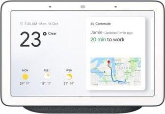 Boxa Google Google Nest Hub, Voice control, Multiroom, Google Assistant, ecran, Alb
