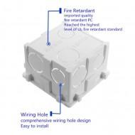 Doza aparat British Standard | Wall Plate Box Universal White Socket Switch Back Cassette