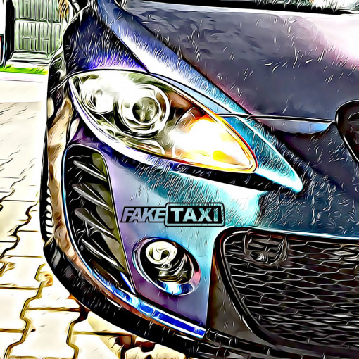sticker fake taxi