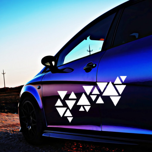 Set stickere auto Triangles 2