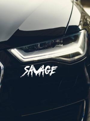 Sticker auto Savage