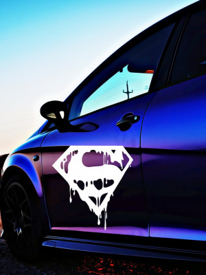 Sticker Auto Superman