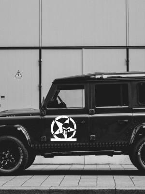 Sticker auto Punisher Star