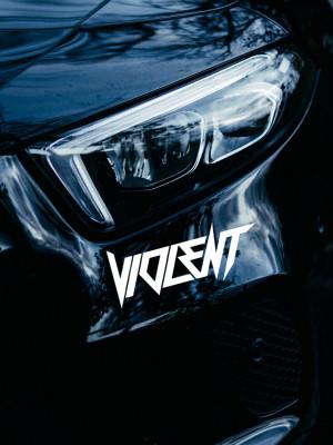 Sticker auto Violent