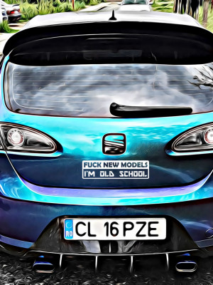 Sticker Auto F*ck New Models