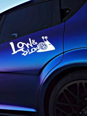 Sticker Auto VW Low N Slow