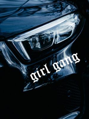 Sticker auto GIRL GANG