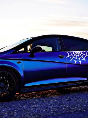 Sticker Auto Spider Web